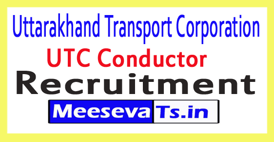 Uttarakhand Transport Corporation UTC Recruitment Notification 2017