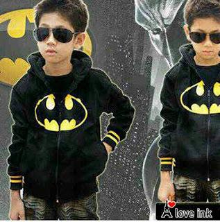 Jaket Anak Batman Black - Harga Saudara
