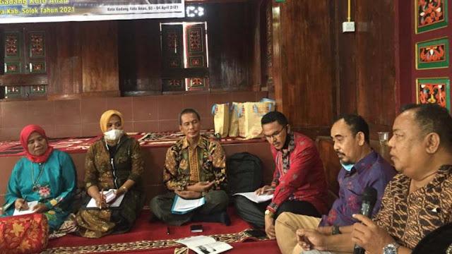 Dr. I Ketut Wiranyana, Kepala Balai Arkeologi Provinsi Sumatera Utara saat bicara pada diskusi Grand Design Pemajuan Kebudayaan Nagari Koto Gadang Koto Anau, Sabtu 3 April 2021. (Dok. Istimewa)
