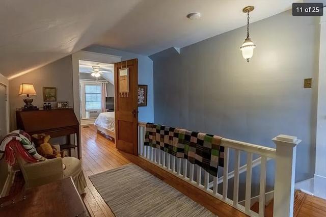 color photo of upstairs hallway, looking into bedroom, Sears Kilbourne 201 Iola Street Glenshaw Pennsylvania