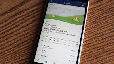 فيس بوك تضيف أداة متكاملة للطقس ضمن تطبيقها