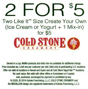 photograph about Cold Stone Printable Coupons identify Chilly Stone Creamery Printable Discount codes May possibly 2018 - Welcoming