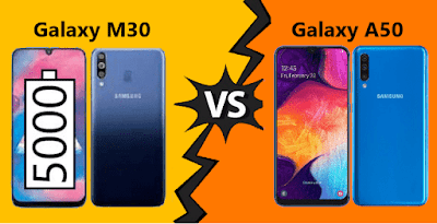 Perbandingan Samsung Galaxy M30 dan Samsung Galaxy A50