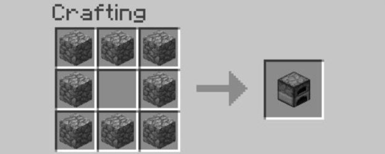 To make an oven you only need stone blocks