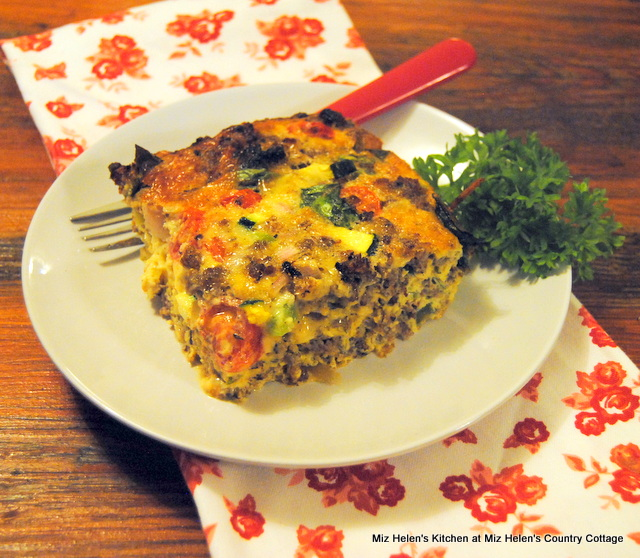 Garden Fresh Fritatta at Miz Helen's Country Cottage