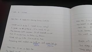 書き写したノート