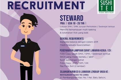 Info Lowongan Kerja Steward Sushi Tei Batam
