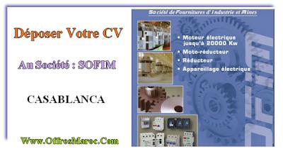 Déposer Votre CV Au Société : SOFIM (Société de fournitures d'industries et mines)