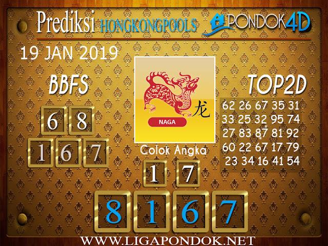Prediksi Togel HONGKONG PONDOK4D 19 JANUARI 2019