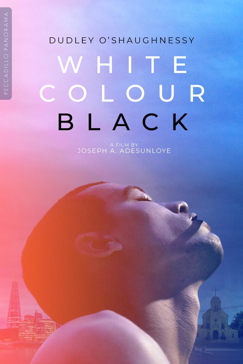 white colour black poster