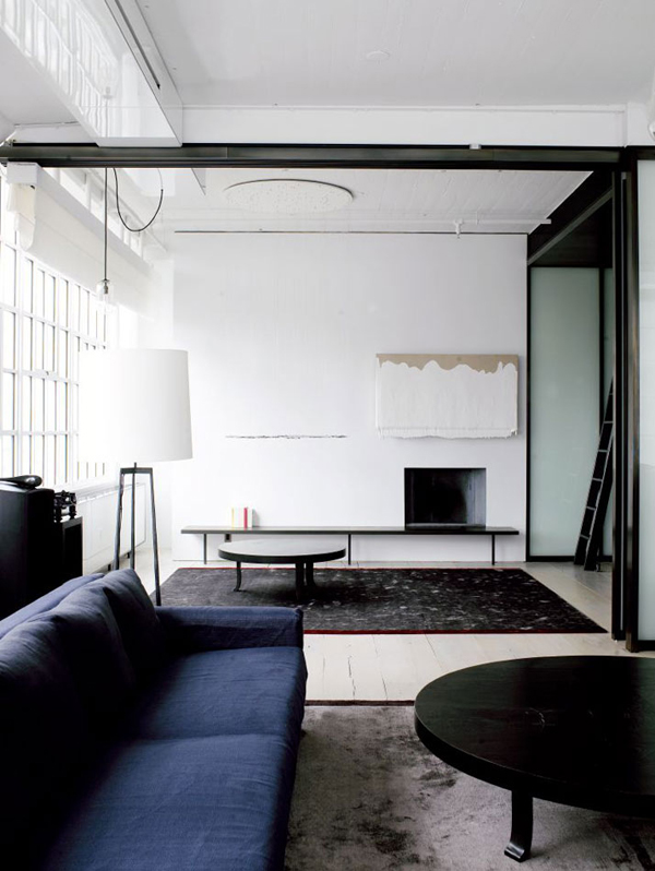Luxury Minimalist Loft Designs In Black And White Image  New Home Ideas- Black And White Loft Design Equipped