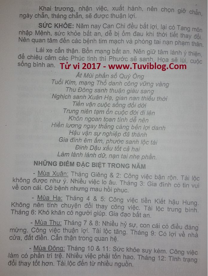 Tu vi tuoi At Mui nam 2017