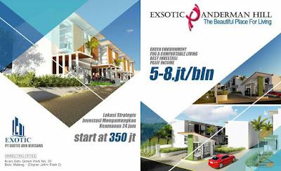 Investasi rumah villa di Kota Batu dekat BNS, Jatim Park, Museum Angkut (daerah pusat wisata Kota Batu, Oro-Oro Ombo)
