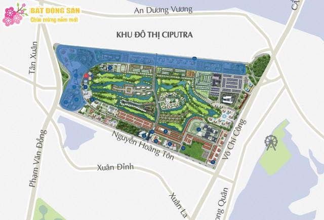 Bản đồ khu đô thị Ciputra Nam Thăng Long