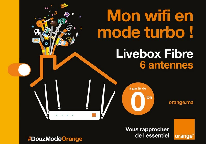 LiveBox Orange maroc Fibre 6 antennes