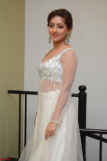 Anu Emmanuel in a Transparent White Choli Cream Ghagra Stunning Pics 124.JPG