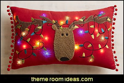 Reindeer Musical Pillow  Christmas decorating ideas - Christmas decor - Christmas decorations - Christmas kitchen decor - santa belly pillows - Santa Suit Duvet covers - Christmas bedding - Christmas pillows - Christmas  bedroom decor  - winter decorating ideas - winter wonderland decorating - Christmas Stockings Holiday decor Santa Claus - decorating for Christmas - 3d Christmas cards