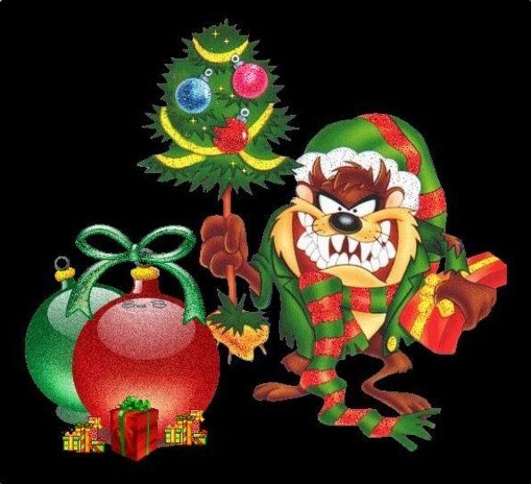 demonio de Tazmania en Navidad
