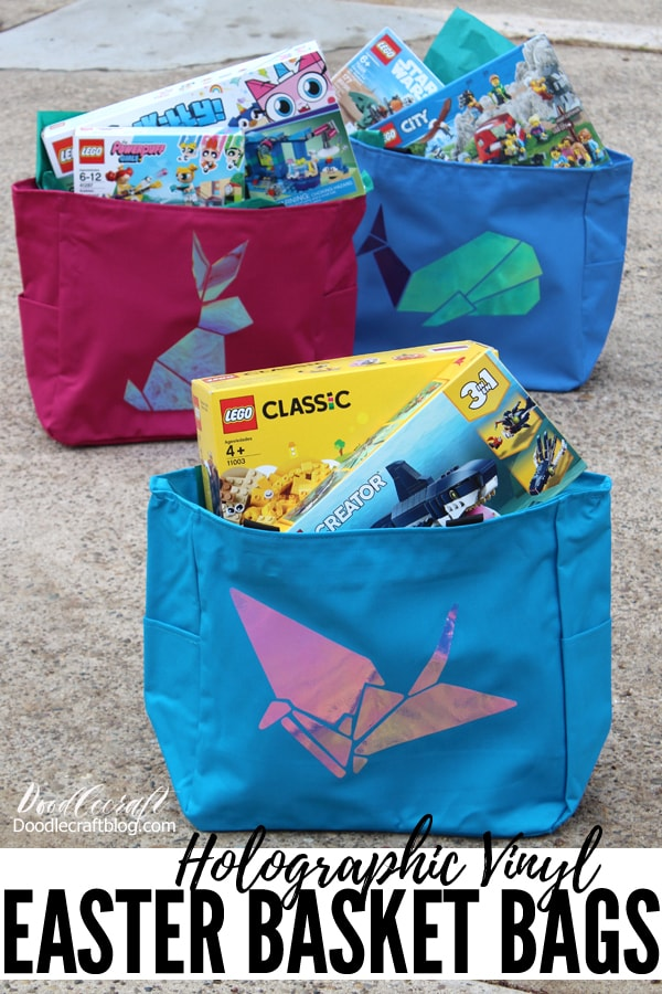 Make the perfect bags for Easter using totes from TotebagFactory and iron on vinyl from Cricut.