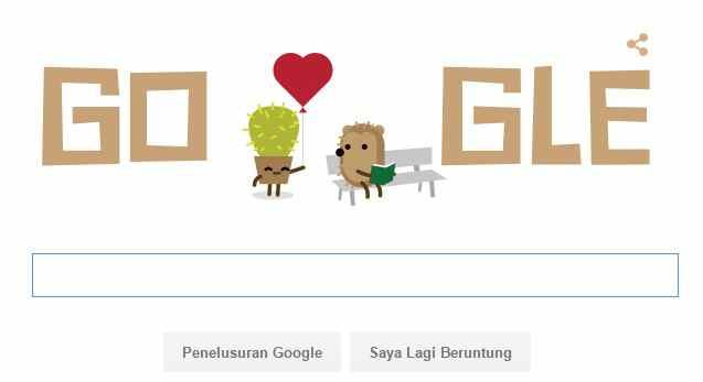 Logo Hari Valentine 2016 Rayakan Google Doodle