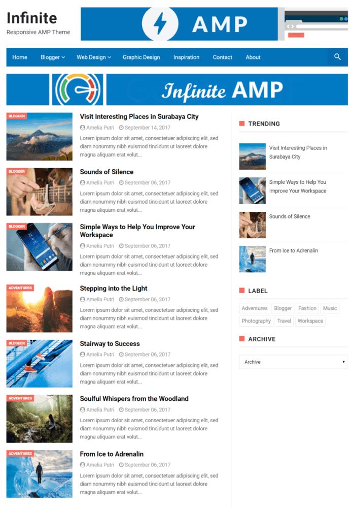 Infinity AMP Blogger Templates Bilimtook