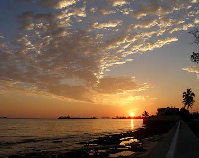 Western sunrise, Nassau, Bahamas.