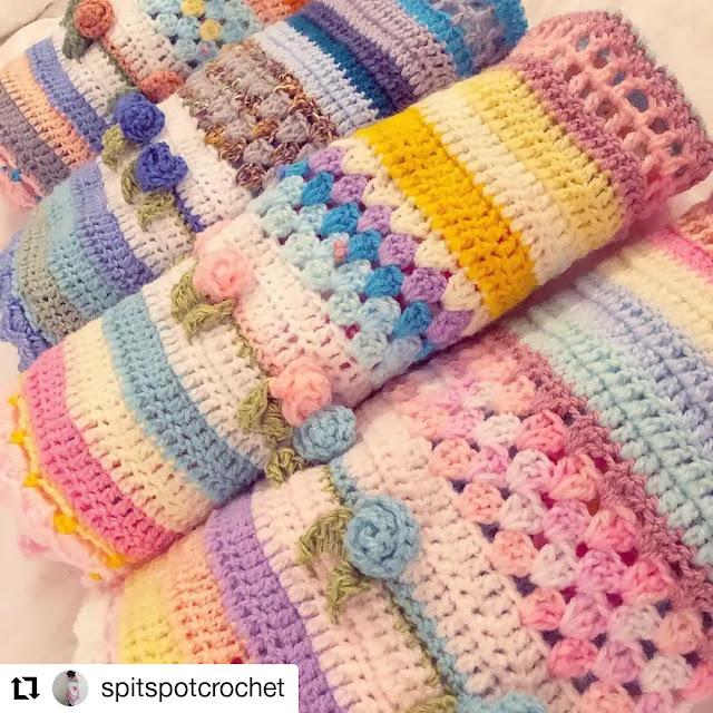 Puntos y carpetas para tejer mantas de ensueño a crochet