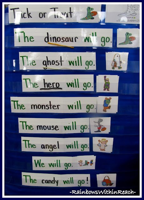 photo of: Kindergarten Anchor Chart for Trick or Treating via RainbowsWithinReach
