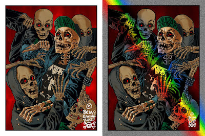 """Anthrax """"Caught In A Mosh"""" Art Print by Brian Ewing"""