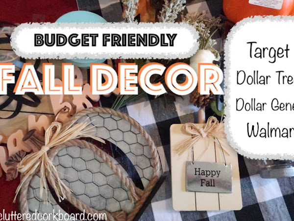 Budget Friendly Fall Decor Haul | Dollar Tree, Target, and more
