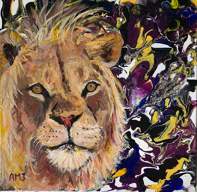 Out Like a Lion- Original painting