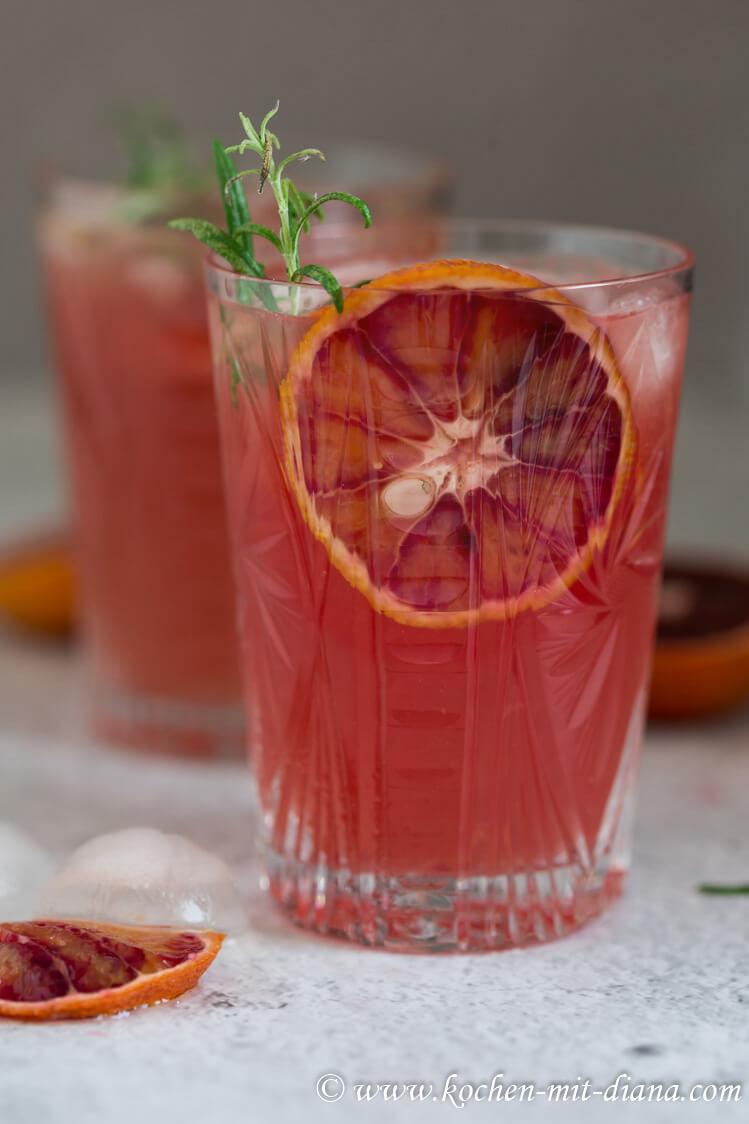 Blutorangen Gin Tonic