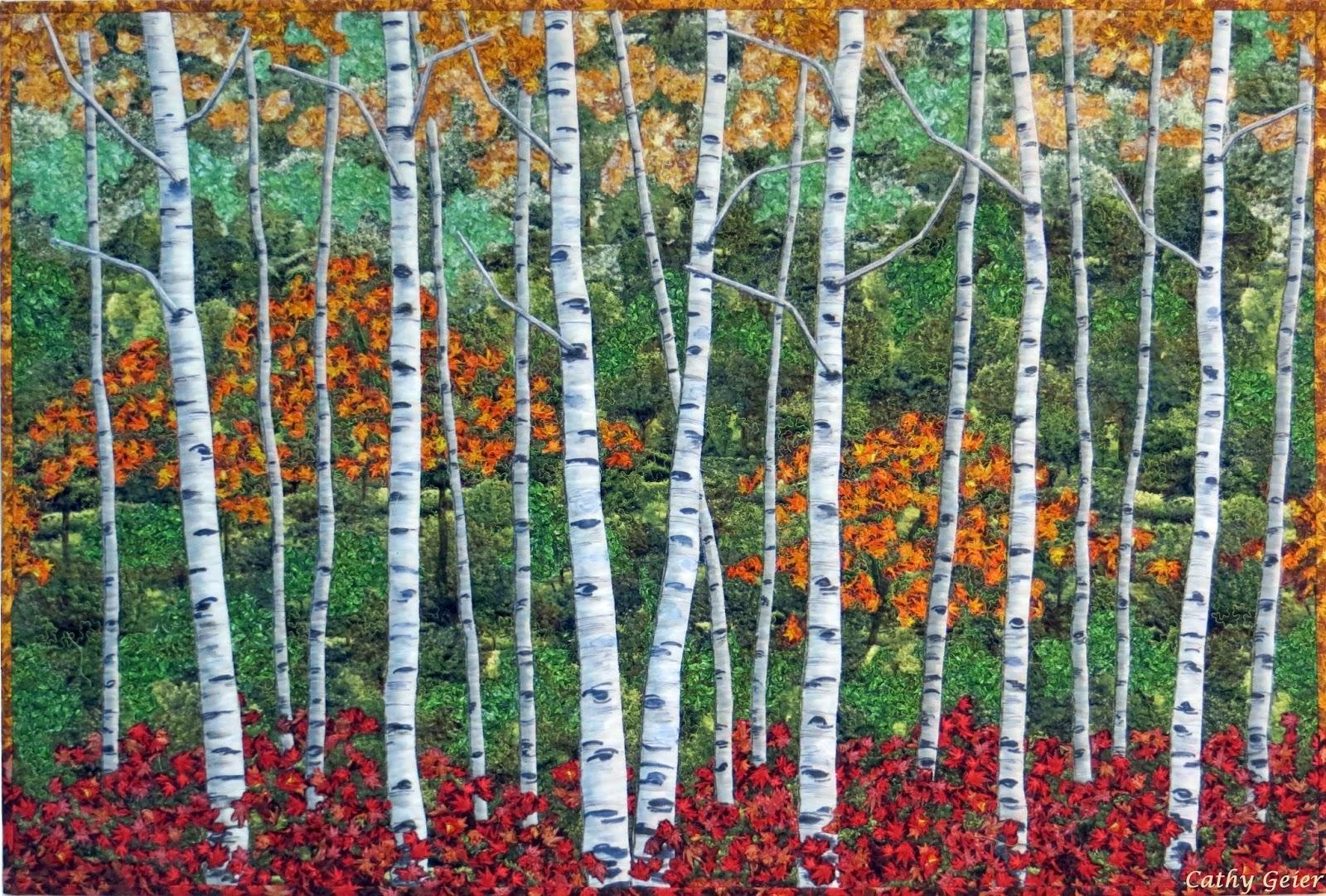 Cathy Geier S Quilty Art Blog Autumn Birches For Rjr