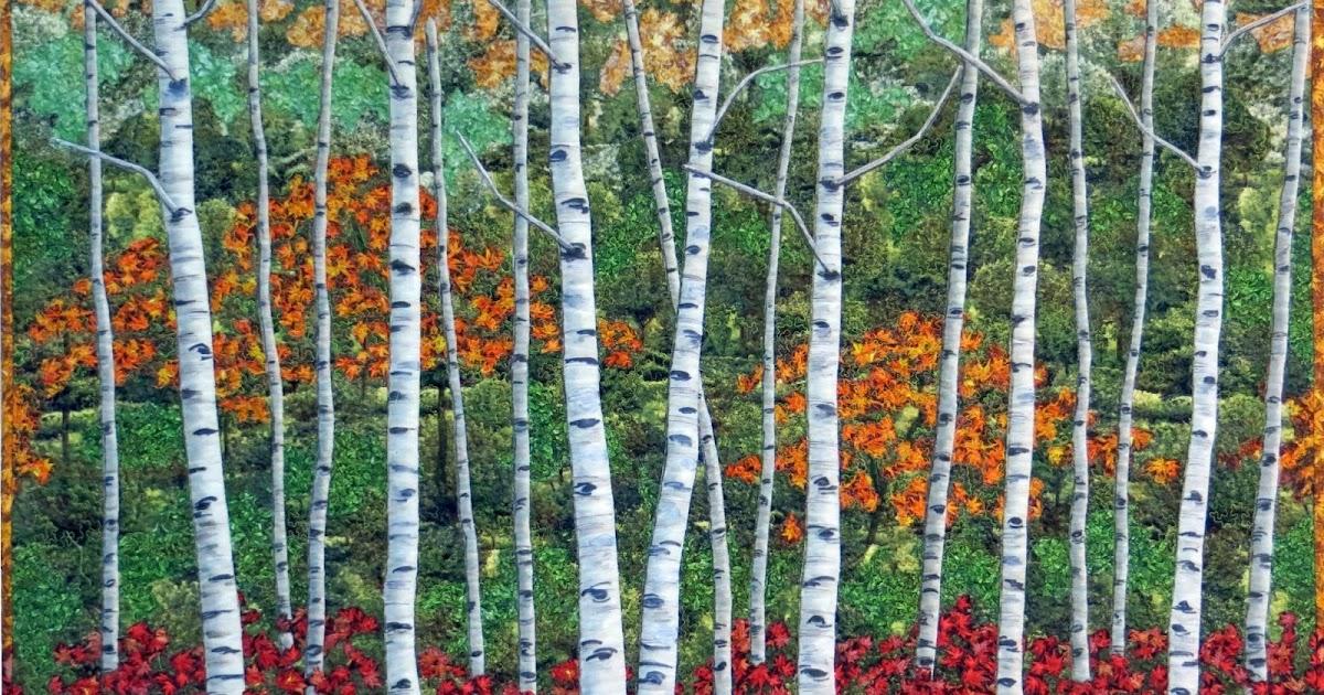 Birch Tree Fall Wallpaper Cathy Geier S Quilty Art Blog Autumn Birches For Rjr
