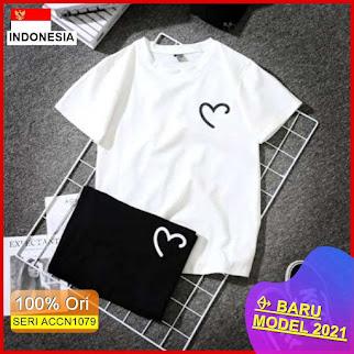 ACCN1079 ATASAN KAOS WANITA TSHIRT LOVE PRINT LD 90 P 57 BARU 2021