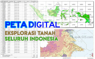 Data Peta Digital Eksplorasi Tanah Seluruh Indonesia
