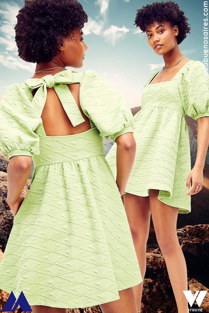 vestido corto verano 2022 moda mujer