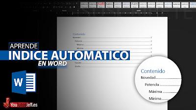 crear tabla de contenido word