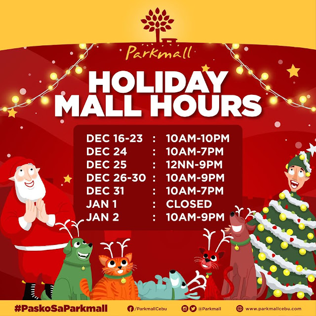 Parkmall Mall Hours 2019