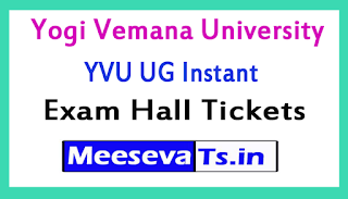 Yogi Vemana University YVU Degree Instant Exam Hall Tickets 2017