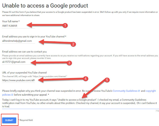 Unable to access a Google Product Form Fill