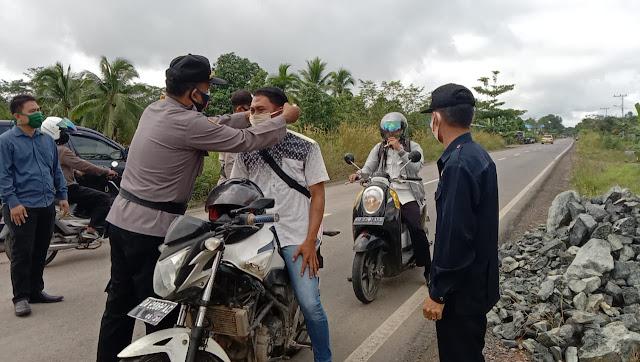 Polsek Pulau Petak Gelar Operasi Yustisi Prokes