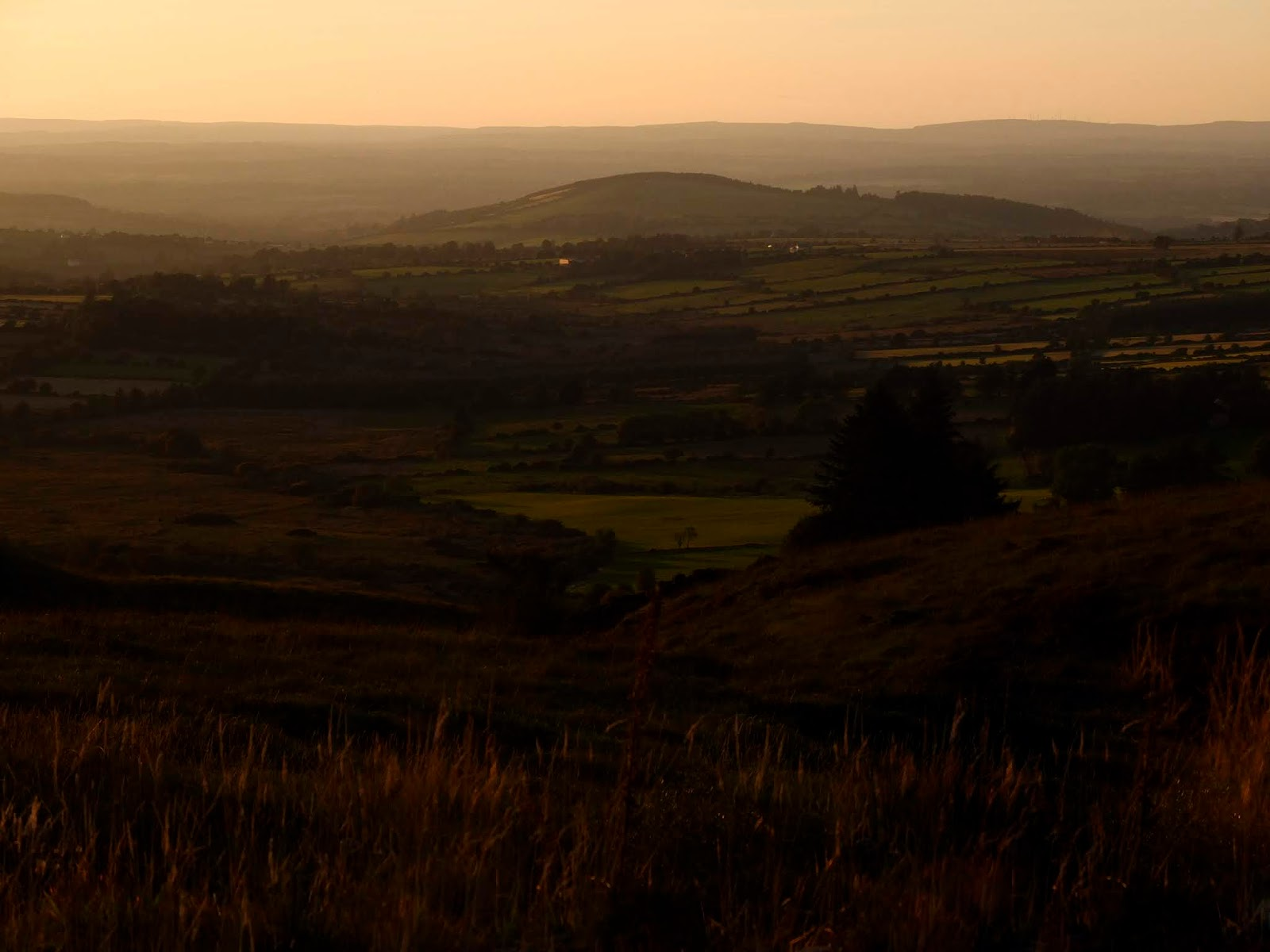 A mountain valley during golden hour in the Boggeragh Mountains, Co.Cork.