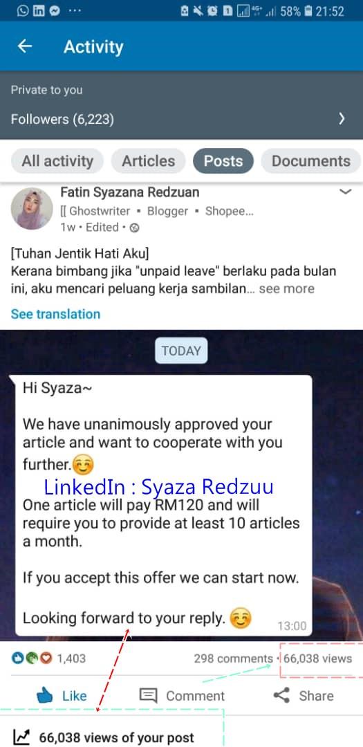 tulis artikel dapat duit