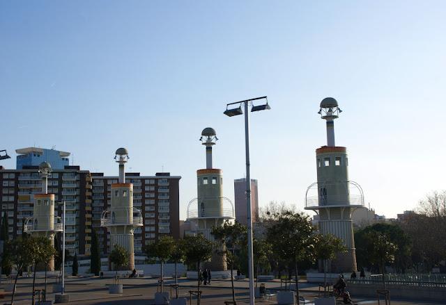Uno dei parchi di Barcellona