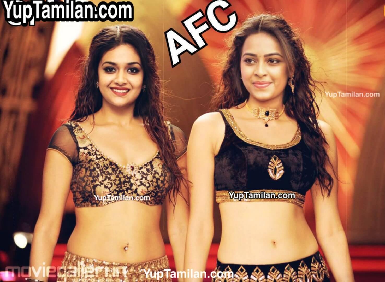 Keerthy Suresh & Sri Divya Sexy Navel Photos in Duo
