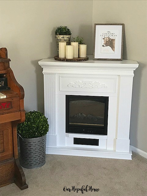 While I Love Our White Farmhouse Inspired Electric Fireplace Know That It Doesnt Rule Out A Wood Burning From Turning Up Again Some Time In My