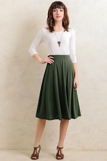 Midi Skirt kesan cantik dan manis