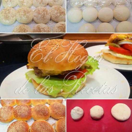 Hamburguesa de carne, lechuga, tomate y queso hecha con bollos de hamburguesa