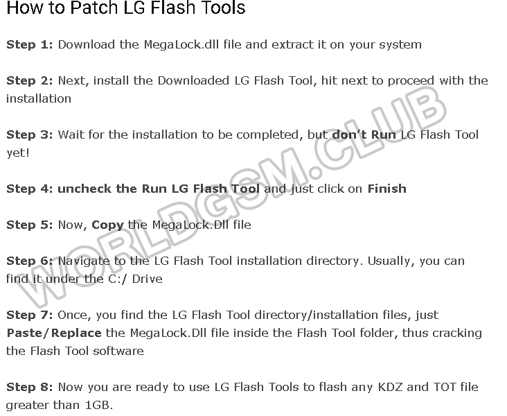 HOW TO RUN LG FLASH TOOL